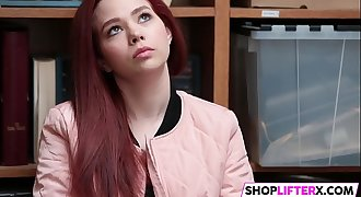 Redhead teen caught red-handed