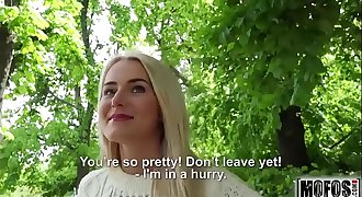 Blonde Hottie Fucks Outdoors flick starring Aisha - Mofos.com