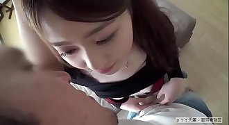 Beautiful chick amazing blowjob for bf